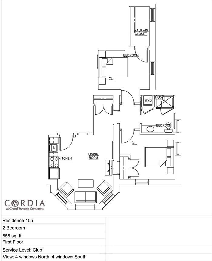 Cordia floor plan
