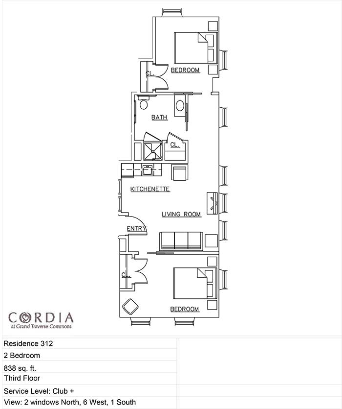 Cordia floor plan