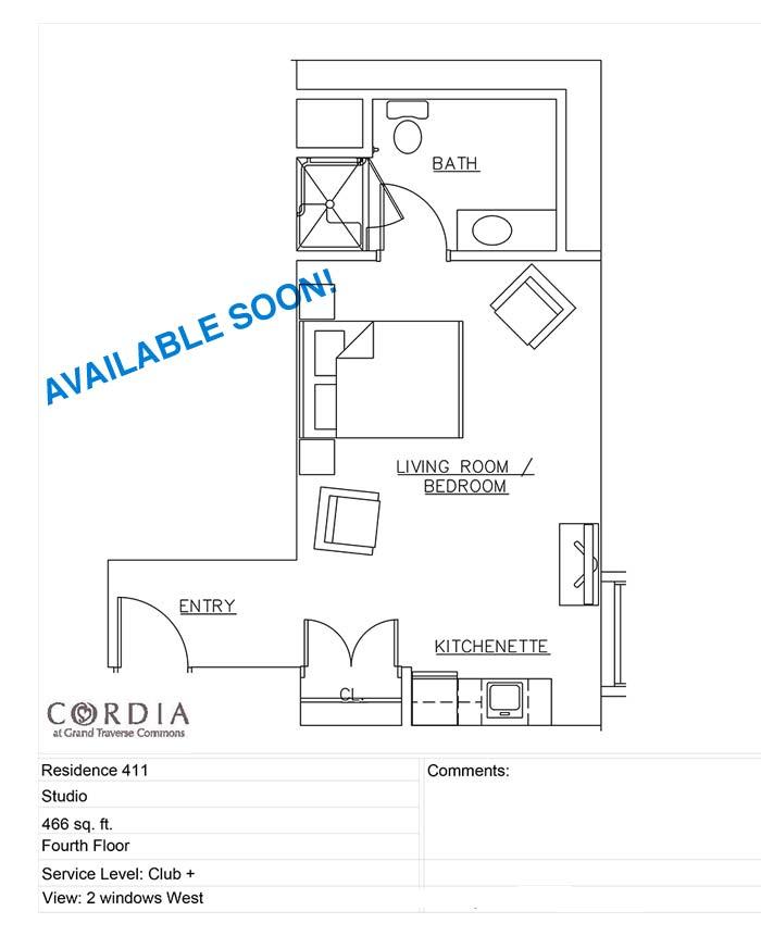 floor plan 411