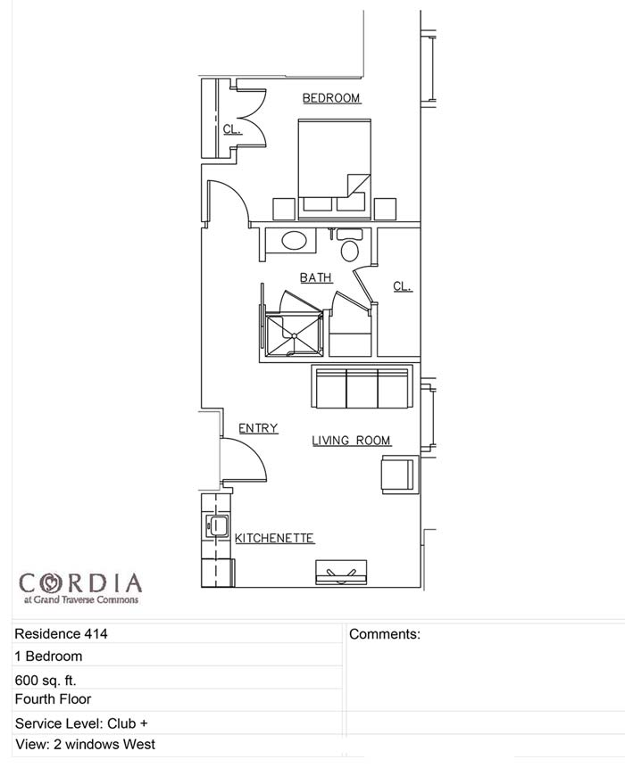 floor plan 414